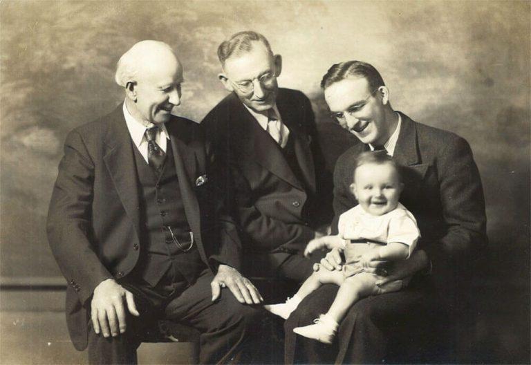 FJ, Arthur, Edwin, Dennis Norton 1939