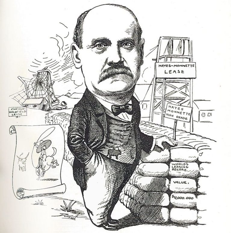 Cartoon appearing at the time of the gold excitement of 1906